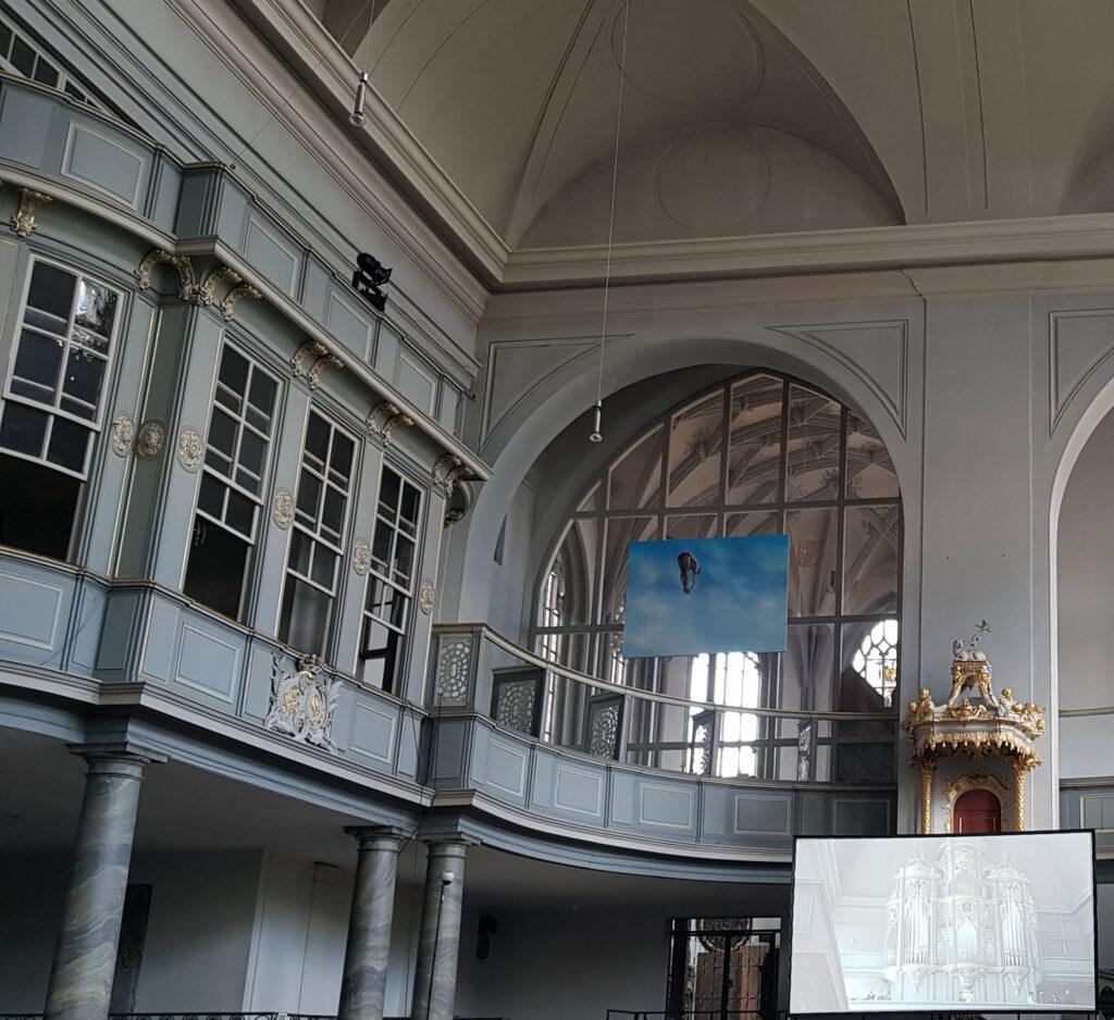 Patronatsloge in der Gumbertuskirche Ansbach, anlässlich der Bachwoche 2021 - Bildrechte Hotel Platengarten Ansbach
